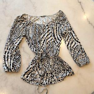 Elie Tahari silk 3/4 sleeve nwot blouse. Sz L